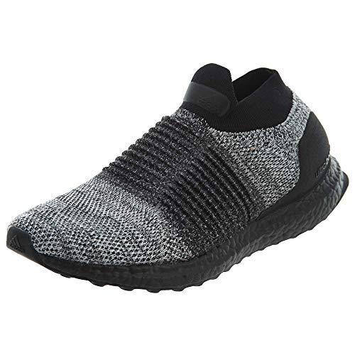 adidas Men's Ultraboost Laceless,black/black/white,10 M US