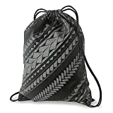 Hawaiian Style Drawstring Backpack Tribal Gray
