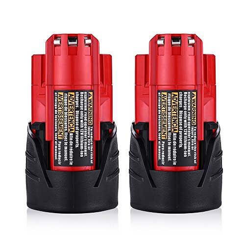 Topbatt M12 2.0Ah Battery for Milwaukee 12V Replacement Battery Pack Lithium Xc 48-11-2440 48-11-2402 Cordlees Tools 2Packs by Topbatt (Image #7)