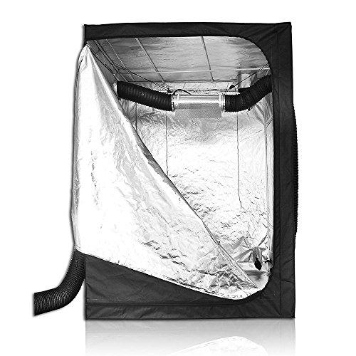 "51aQ2l95AzL - LAGarden 60x60x78"" 100% Reflective Diamond Mylar Hydroponics Indoor Grow Tent Non Toxic 600D Planting Room"