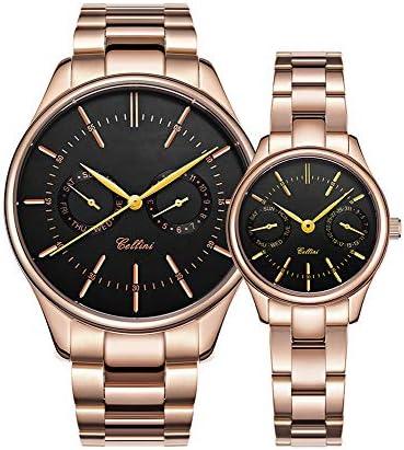 2PCS Couple Watches, Women's Quartz And Men's Mechanical Mov