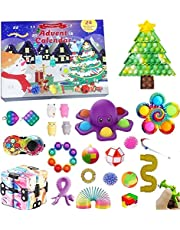 Fidget Toy Advent Calendar 2021 Christmas Countdown Calendar 24 Days Sensory Fidget Toys Set Novelty Decorations Gift Boxes for Kids Adults Stress Anxiety Relief Toys