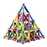 Toys : 130 Pieces - Magnetic Building Sticks Building Blocks Set, Elongdi Educational Toys Magnetic Blocks Sticks Stacking Toys Set, Non-Toxic Building Toy 3D Puzzle with Storage Bag