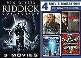 Anti-Hero Collection Pitch Black / Chronicles of Riddick & Dark Fury Vin Diesel + Apocalyptic Pack WaterWorld Kevin Costner / Children of Men / Skyline & Doomsday Sci-Fi Movie Marathon 7 Pack
