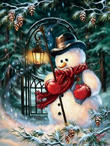 KXCFCYS New DIY 5D Diamond Painting Kit Diamond Embroidery Painting Pasted Paint by Number Kits Stitch Craft Kit Home Decor Wall Sticker - Santa Claus (N7265) -