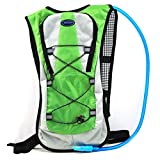 Zaidogear Hydration Pack with 2L Backpack BPA Free Water Bladder, Fits Men, Women, Youth and Kids, Used for Hiking, Running, Cycling, and Skiing – Green Color