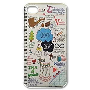 The fault in our stars Okay?Okay. PC Hard Plastic phone Case Cover For Iphone 4 4S case cover JWH9125049