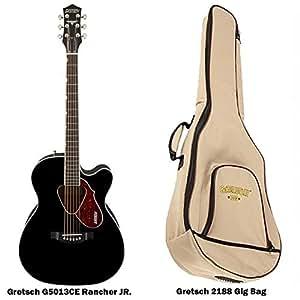 gretsch g5013ce rancher jr acoustic electric guitar with gretsch g2188 gig bag. Black Bedroom Furniture Sets. Home Design Ideas