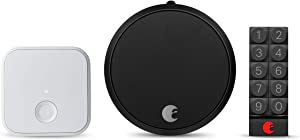August Smart Lock Pro + Connect Wi-Fi Bridge, 3rd gen - Silver, Works with Alexa, HomeKit & Zwave, Now with Smart Keypad for Secure Code Entry