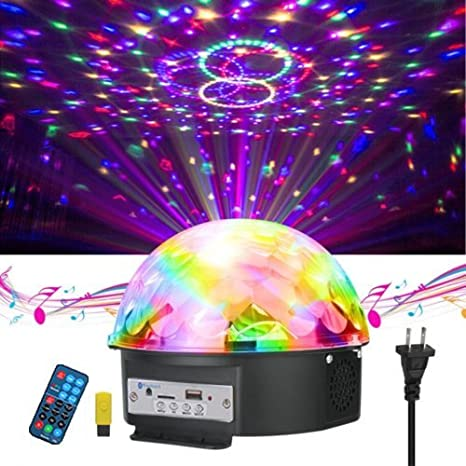led disco ball party lights bluetooth sound activated magic music player rgb colors changing