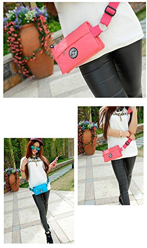 Blue Adjustable Fanny Waist Lightweight Bag Women's Pack Badiya Lake Belt Multifunction Bag pqHPZFHx