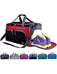 Packable Sports Gym Bag with Wet Pocket   Shoes Compartment Travel Duffel  Bag for men and a1792f48bbb7e