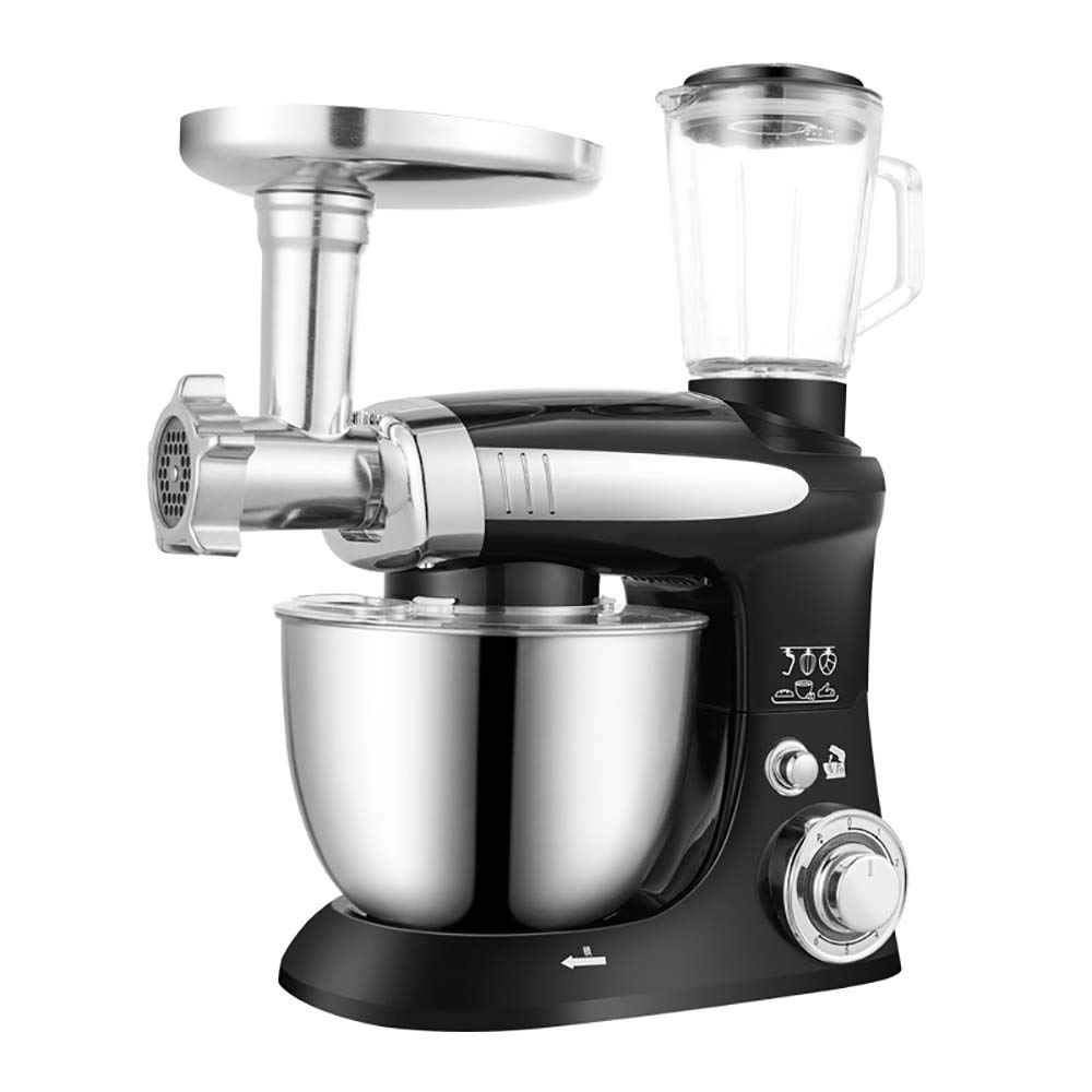 LTWAN Food Processor Stand Mixer 6 Speed Multifunctional Electric Food-Blender Mixer 1000W Meat Grinder Food Processor Dough Beater Kitchen Tools,Black by LTWAN