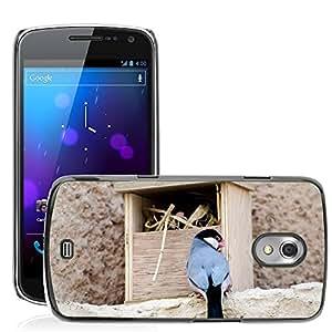 GoGoMobile Slim Protector Hard Shell Cover Case // M00117538 Bird Lonchura Island Natural Feather // Samsung Galaxy Nexus GT-i9250 i9250