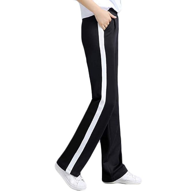 MUCHAO Pantalones de Cintura Alta para Damas Pantalones de chándal ...
