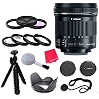 Canon EF-S 10-18mm f/4.5-5.6 IS STM Lens Bundle with 67mm 3 Piece Filter Kit for Canon EOS Rebel T5, T5i, SL1, T6, T6i, T6s Digital SLR Cameras - International Version (No Warranty)
