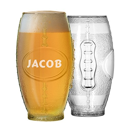 Football Tumbler Beer Glass - Personalized Engraved for Free - 23 oz -