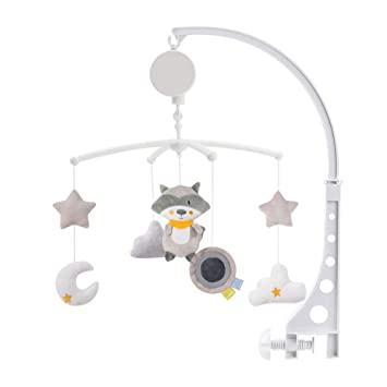 Baby Crib Mobile Bed Bell Hanging Holder Music Box Arch Night Light Newborn Toy