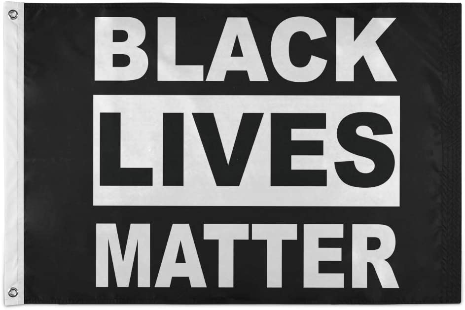 Amazon Com Joysay Flag 2x3 Ft Outdoor Banner Black Lives Matter Flag Justice For George Floyed Flag With Brass Grommets Fade Resistant Outside Porch Flag 24x36 Inch Garden House Home Decor