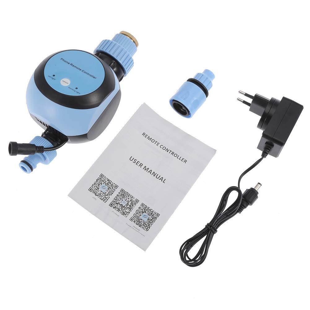 Fditt Regolatore di irrigazione elettronico Automatico Digitale con Timer per Acqua(Spina Europea)