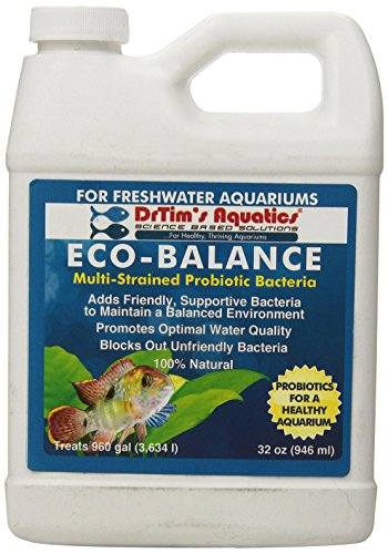DrTim's Aquatics Eco-Balance Multi-Strained Probiotic Bacteria for Freshwater Aquarium, 32-Oucne