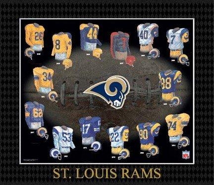 NFL Saint Louis Rams Evolution of The Team Uniform Framed Photograph ()