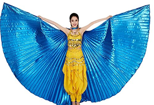 KLJR-Women Isis Wings Belly Dance Costumes 360 Degree Sticks Performance Supplies Props Accessories Two (Isis Costume Funny)