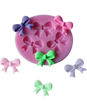nikgic dulce lazo Figura silicona Fondant Cake Mold antiadherente de forma de Handgemachte Chocolate Candy Mold