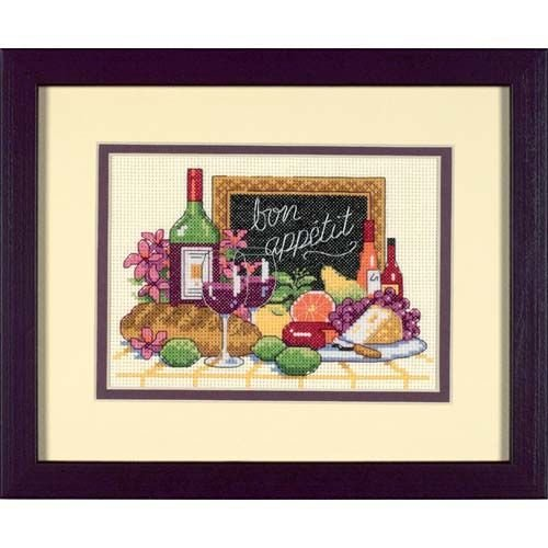 Bon Appetit Mini Counted Cross Stitch Kit-7X5