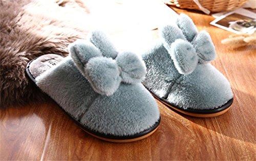 ALUK-Pantoufles d'intérieur d'hiver plancher antidérapant