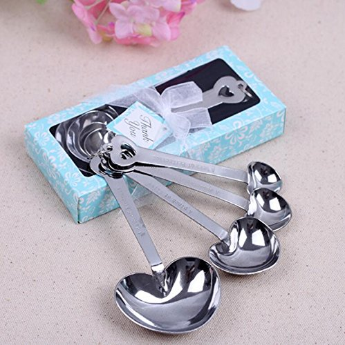 Love Heart-Shaped Measuring Spoons For Wedding Favor and baby shower, Set of 96