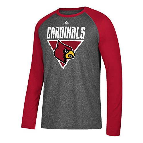 Toys R Us Louisville Ky (NCAA Louisville Cardinals Mens Color Splat Ultimate L/S Raglan Teecolor Splat Ultimate L/S Raglan Tee, Dark Gray Heather,)