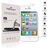 trop saint Tempered Glass Screen Protector for iPhone 4/4S - 0.3mm Scratch-Proof Screen Shield - Transparent