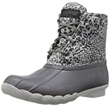 Sperry Top-Sider Women's Saltwater Prints Rain Boot, Dark Grey Cheetah, 7 M US