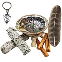 JL Local Smudge Kit - Sage, Palo Santo, Abalone Shell, Feather + More 3 Options