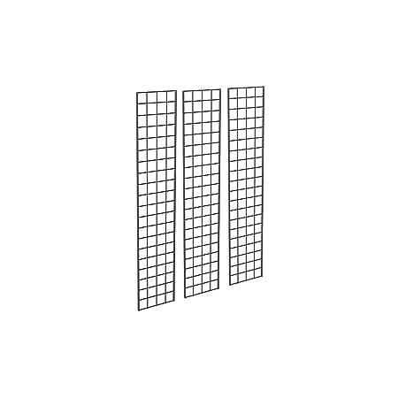 1 x 5 BLACK GRIDWALL PANELS SET OF 3 GRID WALL DISPLAY