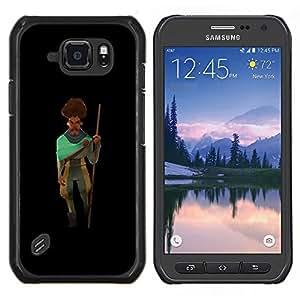 """Be-Star Único Patrón Plástico Duro Fundas Cover Cubre Hard Case Cover Para Samsung Galaxy S6 active / SM-G890 (NOT S6) ( El hombre del bigote de la barba del palillo del arte de viajeros"""" )"""
