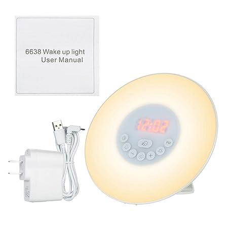 Despertador Digital Despertador Mesa de luz Lámpara LED Reloj ...
