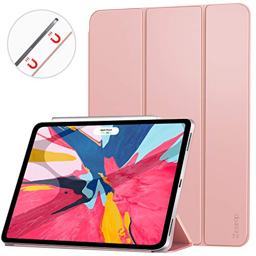 Ztotop Case for iPad Pro 12.9 Inch 2018, Strong Magnetic Ultra Slim Minimalist Smart Case, Trifold Stand Cover with Auto Sleep/Wake for New iPad Pro 12.9 Inch 2018 (3rd Gen), Rose Gold