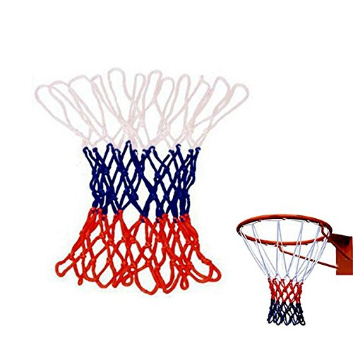 - Sports & Outdoor - Overstriking Solid Three Color Polypropylene Basketball Net Extended - Basketball Replacement Outdoor Hoop White Blue Spalding Pool - Red And Net - 1PCs