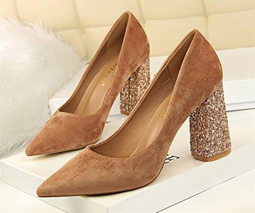 De Parti A Forme EU39 Chaussures Blink LUCKY Hauts Escarpins Plate Mariage Chaussures Toe Femmes CLOVER Talons Peep Escarpins Sandales 7qqxCZp