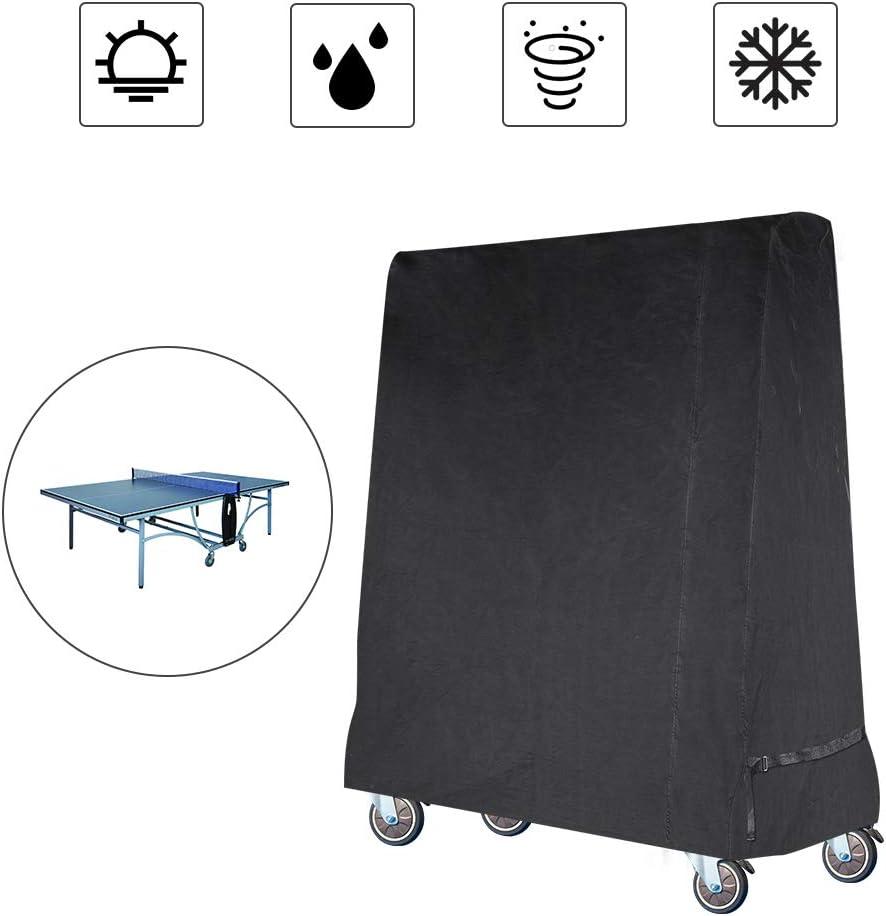 Gurkkst Funda para Mesa de Ping-Pong Oxford Impermeable Anti-UV Protección Cubierta de Tenis de Mesa (185×70×165cm)