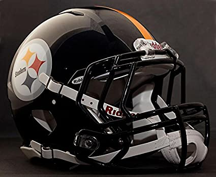 c318e9163 Image Unavailable. Image not available for. Color  Riddell Speed Pittsburgh  Steelers NFL Authentic Football Helmet ...