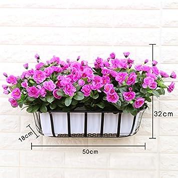 XPHOPOQ Künstliche Blumen Rose Essbereich Tisch Dekoration Zäune Outdoor  Indoor Modern Stil Violett