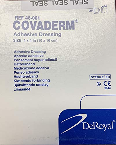 DeRoyal Covaderm 4 x 4 Adhesive Dression(10 x 10 cm)