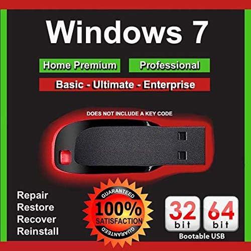 Windows 7 Bootable USB Reinstall Upgrade Restore Repair All Versions 64 32 bit