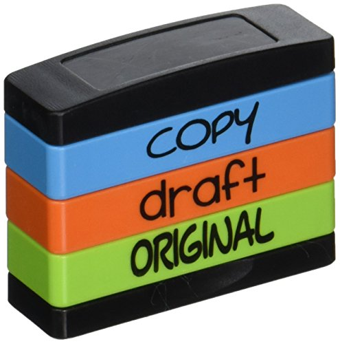 - Stack Stamp Pre-Inked Triple Message Stamp, Copy, Draft, Original (8801)