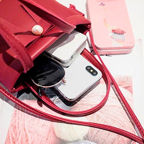 Mercato Donna Borse Rosso rosso Dell'arco A Un Casuali Tracolla Della Solido Dell'annata Da Buon Gusspower Perla Colore Spalla Con Signore Bambine Donna wwnqPrE1
