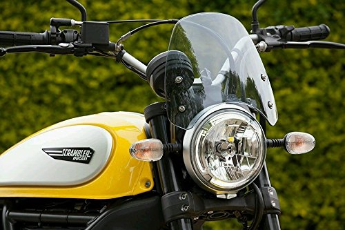 ducati DART scrambler classic screen wind protection 2015+ light tint FLYSCREEN