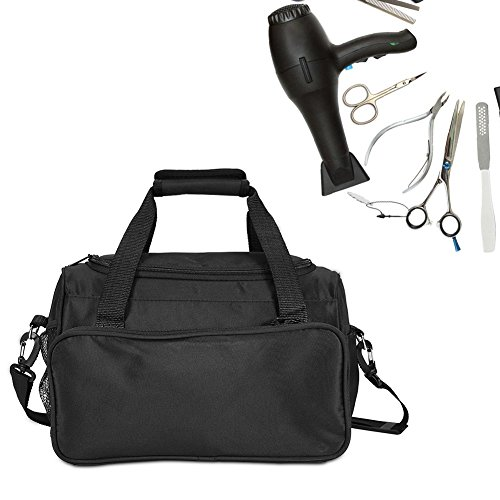 ag, Salon Barber Handbag Portable Scissors Comb Holder Hairstyling Case Travel Luggage Pouch (Black) ()